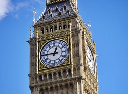 Uhr am Big Ben in London