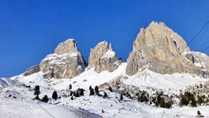 Winter in den Dolomiten