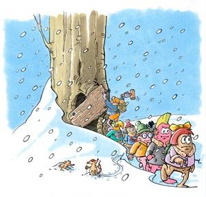 Die Knöllchenbande auf Winterreise