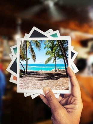 Urlaubsfotos für das Fotoalbum